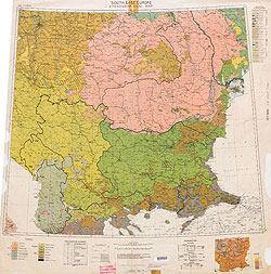 Ethnographical Map Eastern Europe South East Europe 1918
